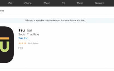 Tsu appeared in the Apple Appstore – it is available on IOS